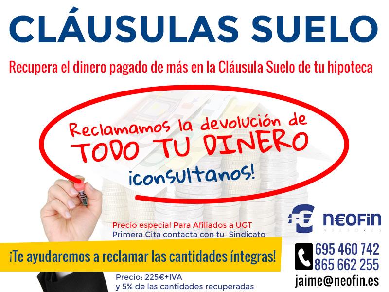 Clausula suelo alicante neofin asesores benidorm for Clausula suelo mayo 2017